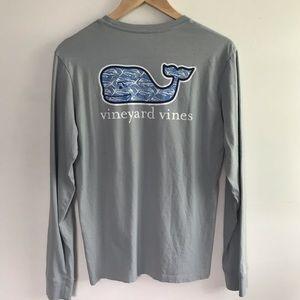 Vineyard Vines Blue Whale Long Sleeve Top